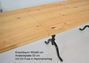 Beizentisch mit Ansteckplatte - Verlängerung