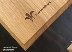 Beizentisch mit Lasergravur